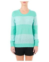 Quinn - Blue Sequin Stripe Crew - Lyst