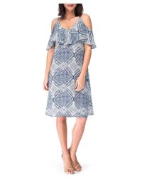 Bobeau - Blue Dress - Lyst