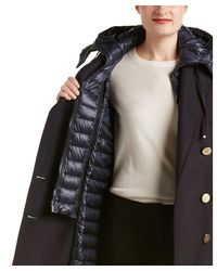 Moncler - Blue Galatea Double-breasted Wool-blend Coat - Lyst