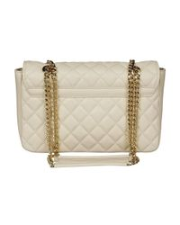 Love Moschino - Women's White Faux Leather Shoulder Bag - Lyst
