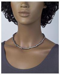 Jewelista - White Stainless Steel Modern Women's Necklace - Lyst