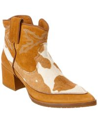 Donald J Pliner - Brown Donald J Pliner Signature Finlay Suede & Haircalf Bootie - Lyst