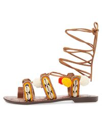 Sam Edelman - Multicolor Lily Lace-up Sandal - Lyst