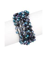 Saachi - Blue Mardi Beaded Bracelet - Lyst