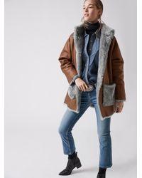 3a3d6b743c22 Bogner Reversible Leather Jacket Bella in Brown - Lyst