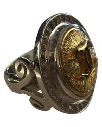 Barry Brinker - Metallic Button Ring W/ Crystals - Lyst