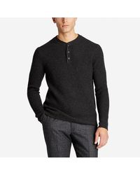 Bonobos | Gray Wool Cashmere Waffle Henley Sweater for Men | Lyst