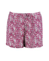 Boohoo - Pink Amy Floral Print Flippy Shorts - Lyst