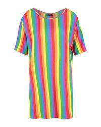 Boohoo - Multicolor Rainbow Stripe T-shirt Dress - Lyst