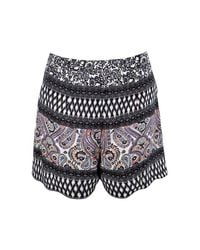 Boohoo - Multicolor Lucy Printed Flippy Shorts - Lyst
