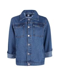 Boohoo - Blue Charity One Love Oversized Denim Jacket - Lyst