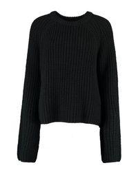 Boohoo - Black Kate Wide Sleeve High Neck Jumper - Lyst