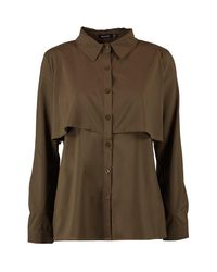 Boohoo - Green Willow Double Layer Military Shirt - Lyst