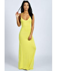 Boohoo - Orange Tilly Strappy Back Detail Maxi Dress - Lyst