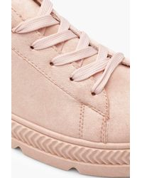 Boohoo - Pink Chunky Cleated Trainers - Lyst