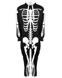 Boohoo - Black Skinny Fit Skeleton Tracksuit for Men - Lyst