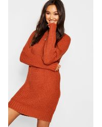 Boohoo - Multicolor Soft Knit Jumper Dress - Lyst
