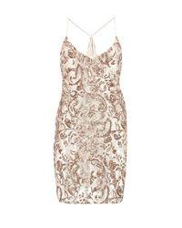 Boohoo Metallic Boutique Sequin Bodycon Dress