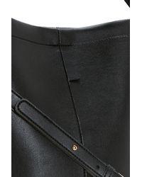 Boohoo - Black Lottie Structured Bucket Bag - Lyst