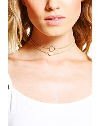 Boohoo - Metallic Nina Dainty Pearl And Circle Necklace Pack - Lyst