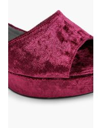 Boohoo - Red Mollie Peeptoe Platform Heel - Lyst