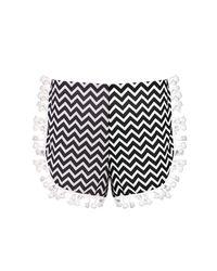Boohoo - Black Emily Tassel Monochrome Shorts - Lyst
