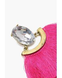 Boohoo - Multicolor Statement Tassel Earrings - Lyst