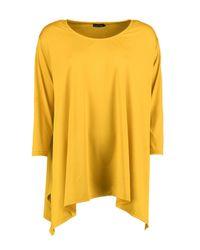 Boohoo - Yellow Faye Hem Detail T-shirt - Lyst