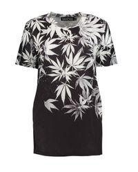 Boohoo   Black Abbie Abstract Print Sweater   Lyst