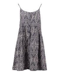 Boohoo - Blue Poppy Strappy Button Through Dress - Lyst