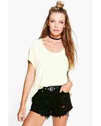 Boohoo | Yellow Imogen Oversized T-shirt | Lyst