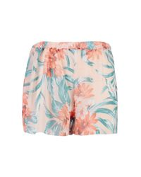 Boohoo - Multicolor Plus Lucie Tropical Print Chiffon Short - Lyst