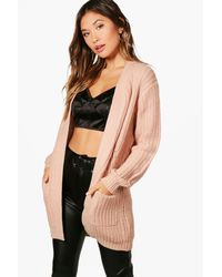 Boohoo - Multicolor Amelie Edge To Edge Cardigan - Lyst