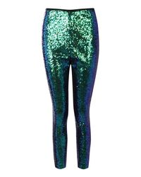 Boohoo - Green Premium Ryha All Over Sequin Leggings - Lyst