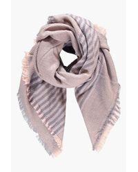 Boohoo - Pink Lucie Stripe Supersoft Blanket Scarf - Lyst