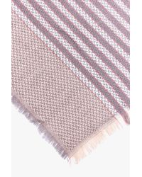 Boohoo - Pink Lucie Stripe Supersoft Blanket Scarf - Lyst