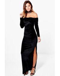 Velvet maxi dress boohoo