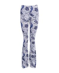 Boohoo - Blue Laci Paisley Print Skinny Flares - Lyst