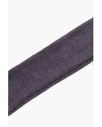 Boohoo - Gray Neve Slinky Metallic Wide Choker - Lyst