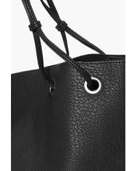 Boohoo Black Ruby Eyelet Detail Shopper Day Bag
