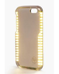 Boohoo - Metallic Iphone 6 Plus Selfie Light Phone Case - Lyst