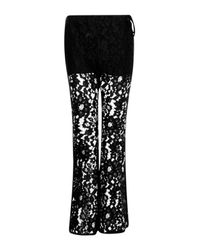 Boohoo - Black Charli Tie Side Corded Lace Flares - Lyst