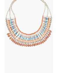 Boohoo | Metallic Serena Beaded Statement Necklace | Lyst