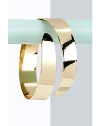 Boohoo - Metallic Lauren Swirl Curved Arm Cuff - Lyst