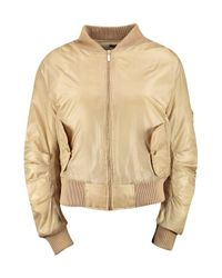 Boohoo - Natural Lillie Ma1 Bomber Jacket - Lyst