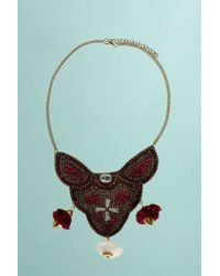 Boohoo - Red Boutique Lola Beaded Pom Pom Detail Necklace - Lyst