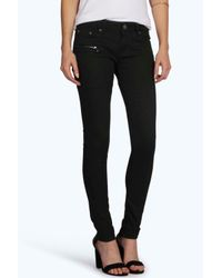 Boohoo - Black Keeley Low Rise Utility Pocket Skinny Jeans - Lyst