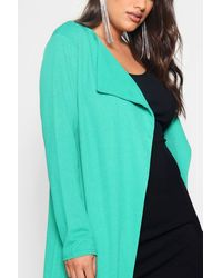 Boohoo - Green Plus Duster Jacket - Lyst