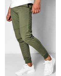 Boohoo - Green Skinny Fit Zip Joggers for Men - Lyst