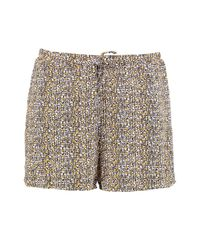 Boohoo - Yellow Claire Printed Flippy Shorts - Lyst